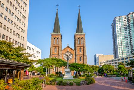 Our Lady of Lourdes Cathedral, Daegu, South Korea Archivio Fotografico