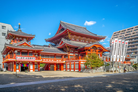 Nagoya, Japan - November 15, 2018: Osu Kannon Temple, a popular Buddhist temple built during the Kamakura Period, is one of Japans Three Major Kannons 에디토리얼