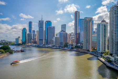 Horizon de Brisbane, capitale du Queensland, Australie