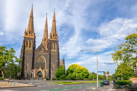 St Patrick's Cathedral in Melbourne, Australia Stok Fotoğraf