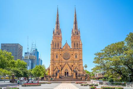 St Marys Cathedral in sydney, australia Stock Photo