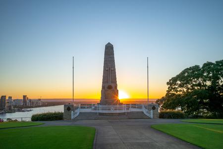 State War Memorial in perth, australia at dawn