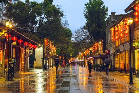 Sanfang Qixiang ancient town in fuzhou, china 版權商用圖片 - 118963573