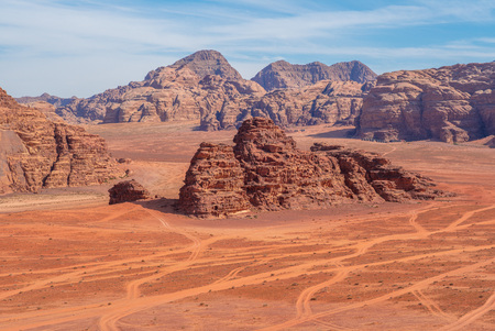 Wadi Rum desert, or Valley of the Moon, in Jordan