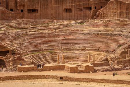 Petra Theater, a Nabataean theater in Petra, Jordan