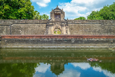 main gate of Fort Santiago in Manila, Philippines
