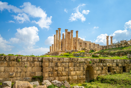 Temple of Zeus in jerash, amman, jordan