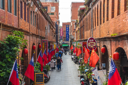 Kinmen, Taiwan - March 2, 2019: Mofan street, where the Ming Dynasty commander Zheng Chenggong (Koxinga) trained soldiers to attack on the Dutch colonists in Tainan
