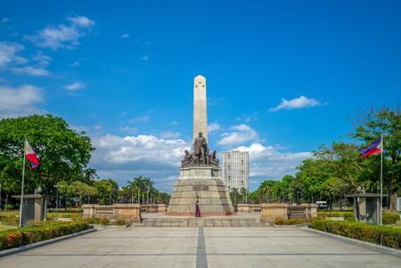 rizal park (Luneta) and Rizal Monument in manila Redactioneel