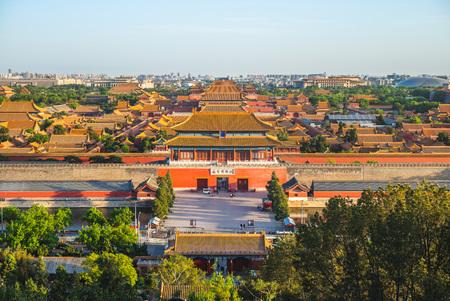 Zakazane Miasto widziane z Jingshan Hill Publikacyjne