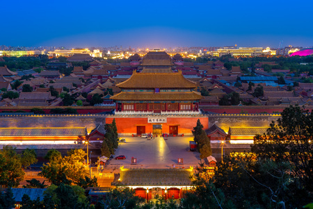 The Forbidden City viewed from Jingshan Hill