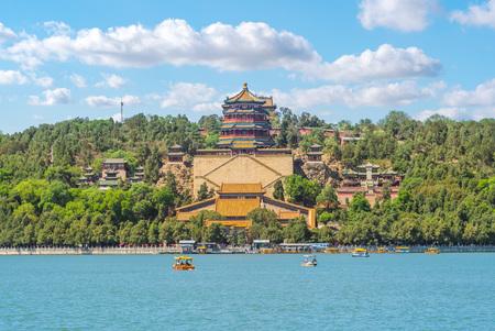 Wzgórze Długowieczności w Pałacu Letnim w pekinie, chiny