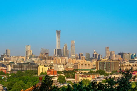 skyline of beijing, capital of china Фото со стока