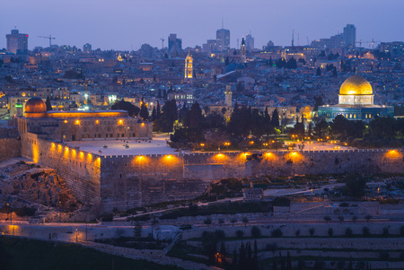 panoramę starego miasta jerozolimy, izrael