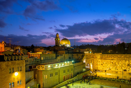 The Western Wall and Dome of the Rock, Jerusalem 写真素材