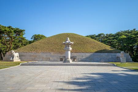 Tomb of King Tongmyong in pyongyang, North Korea