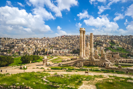 Temple of Hercules at Amman Citadel in Jordan 写真素材