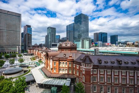 aerial view of tokyo station, japan