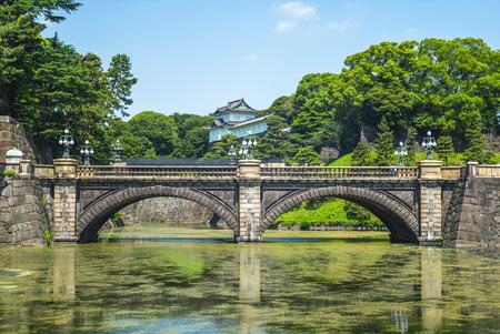 Seimon Ishibashi bridge of Tokyo Imperial Palace Редакционное
