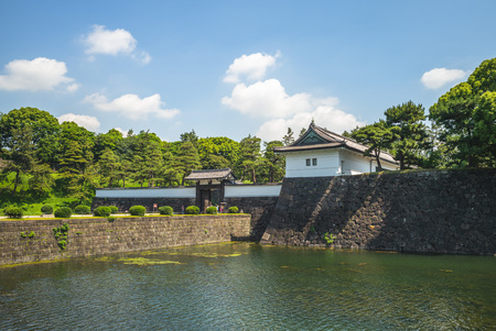 kikyomon gate of tokyo Imperial Palace in japan
