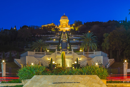 haifa and bahai shrine in israel 報道画像