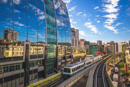 The Wenshan and Neihu Lines of Taipei Rapid Transit System Banco de Imagens - 127578404