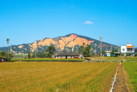 Huoyanshan, a mountain with red earth in taiwan