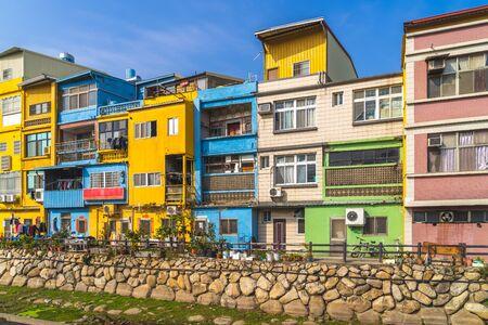 colorful houses in kinmen, taiwan