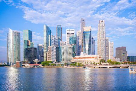 skyline of singapore by the marina bay
