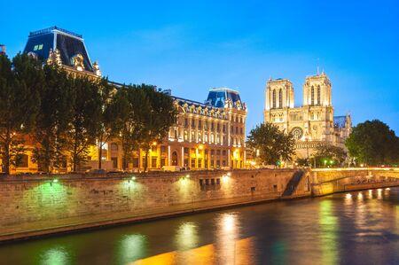 Notre Dame de Paris Cathedral in Paris, France Stock Photo
