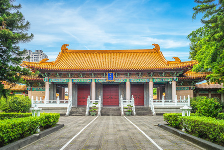 Confucius Temple at Taichung, Taiwan. the translation of the chinese characters is dacheng gate, the main gate of confucian temple
