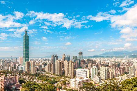 Panoramic view of Taipei City, taiwan 写真素材