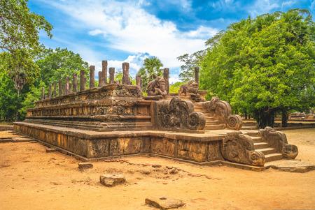Ruins of the Royal Palace Audience Hall, Polonnaruwa, North Central Province, Sri Lanka.
