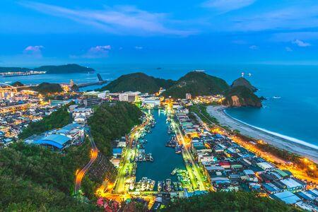 aerial view of Suao Harbor in Yilan, Taiwan 写真素材
