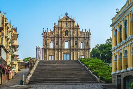 Ruins of St. Pauls in Macau, China Reklamní fotografie