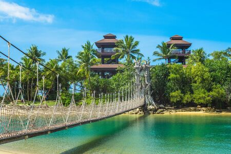 Pulau Palawan Beach at Sentosa, Singapore Stock Photo