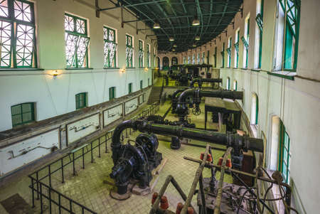 historic pumping station of drinking water in Taipei, Taiwan Redactioneel