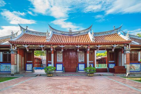 Facade of Confucius Temple at Tainan, Taiwan Stock Photo