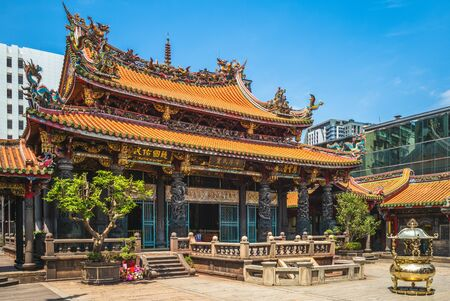 Lungshan Temple of Manka, built in Taipei in 1738 by settlers from Fujian during Qing rule in honor of Guanyin.