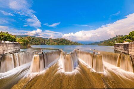 scenery of check dam in miaoli, taiwan