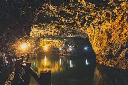 Beihai Tunnel in nangan, Matsu, Taiwan Reklamní fotografie