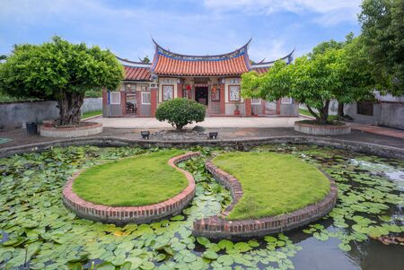 chinese house with tai chi astrotech pond