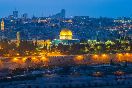 skyline of old city of jerusalem, israel Фото со стока