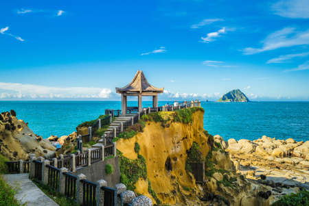 scenery of Keelung islet and Heping Island Park in taiwan