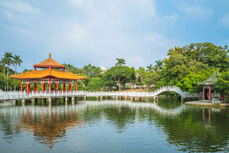nianci pavilion of Tainan park in Tainan, Taiwan. the translation of the chinese text is nianci pavilion