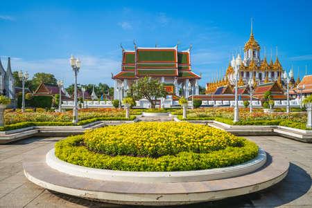 Wat Ratchanatdaram, Loha Prasat Temple at Bangkok, Thailand