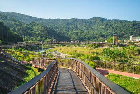 scenery of nanjiang riverside park in nanzhuang township, taiwan