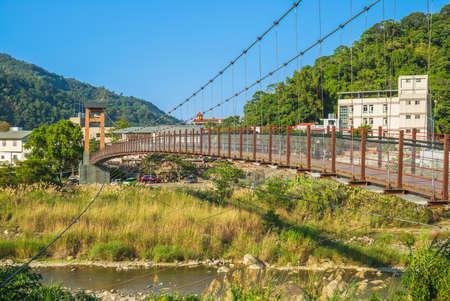Kangji Suspension Bridge at Miaoli county, taiwan