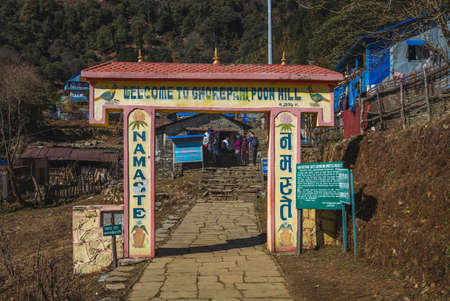 December 29, 2019: Ghorepani, a village in Myagdi District in the Dhaulagiri Zone of northern central Nepal. It lies within the Annapurna Conservation Area, requiring a national park permit to visit 新聞圖片