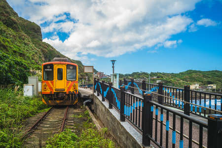 Scenery of Badouzi railway station in keelung city, taiwan 新聞圖片